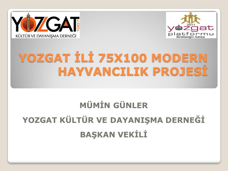 YOZGAT İLİ 75X100 MODERN HAYVANCILIK PROJESİ