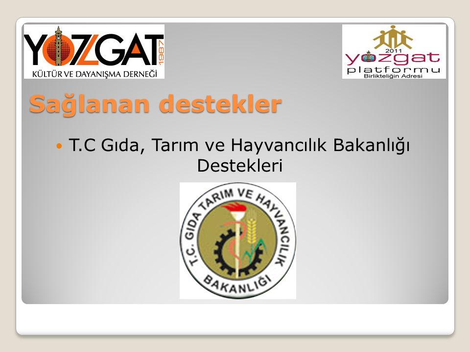 T.C Gıda, Tarım ve Hayvancılık Bakanlığı Destekleri