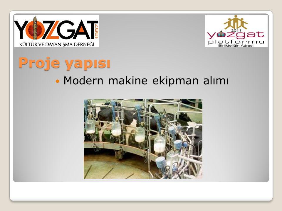 Modern makine ekipman alımı