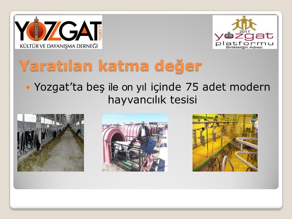 Yozgat'ta beş ile on yıl içinde 75 adet modern hayvancılık tesisi