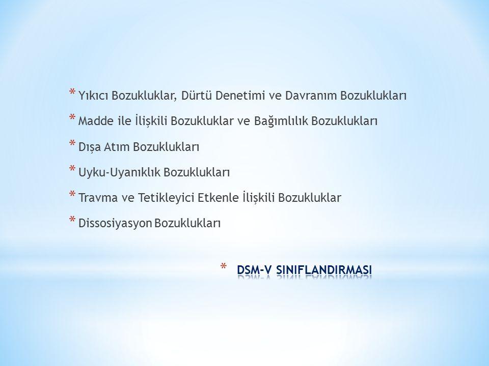 DSM-V SINIFLANDIRMASI