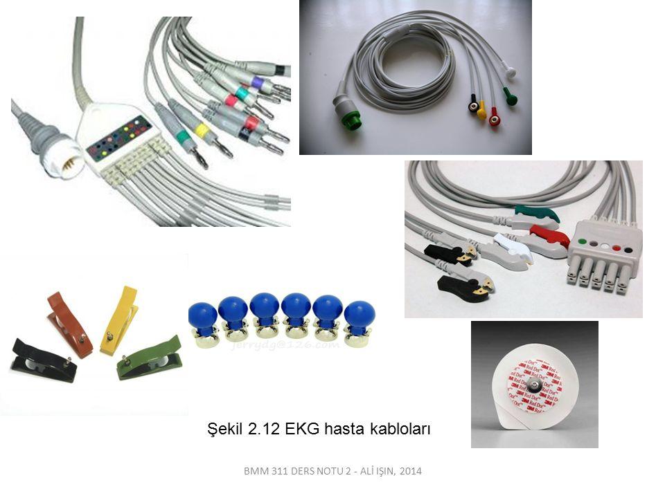 Şekil 2.12 EKG hasta kabloları
