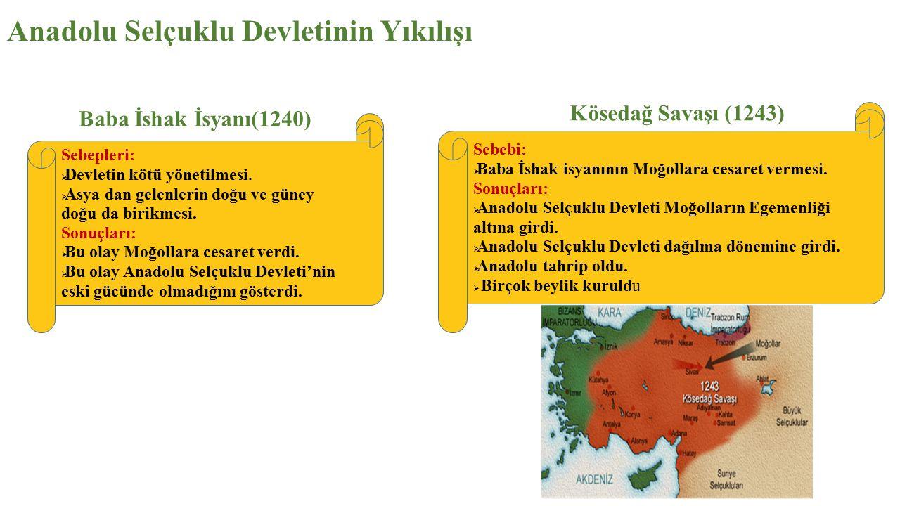 Anadolu Selçuklu Devletinin Yıkılışı