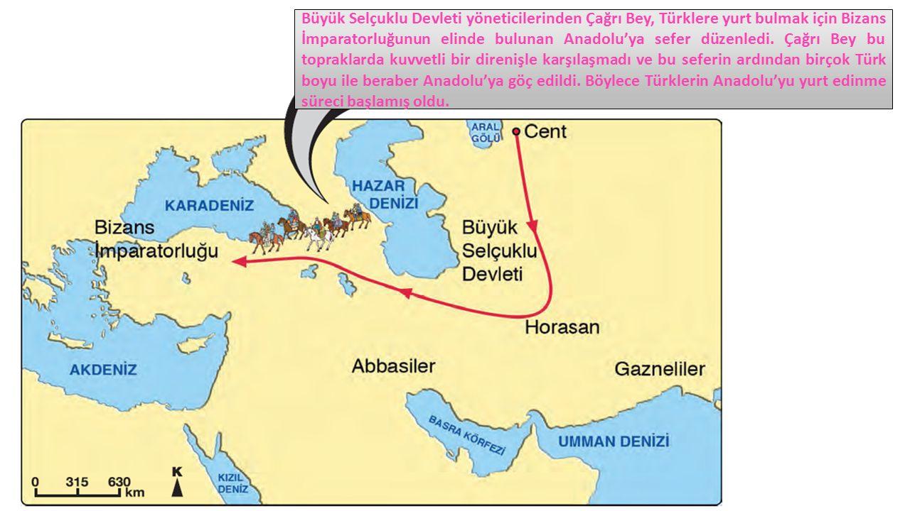 Büyük Selçuklu Devleti yöneticilerinden Çağrı Bey, Türklere yurt bulmak için Bizans İmparatorluğunun elinde bulunan Anadolu'ya sefer düzenledi.