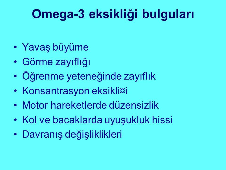 Omega-3 eksikliği bulguları