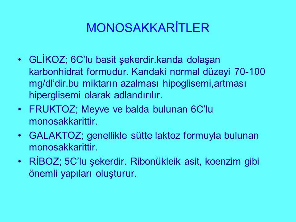 MONOSAKKARİTLER