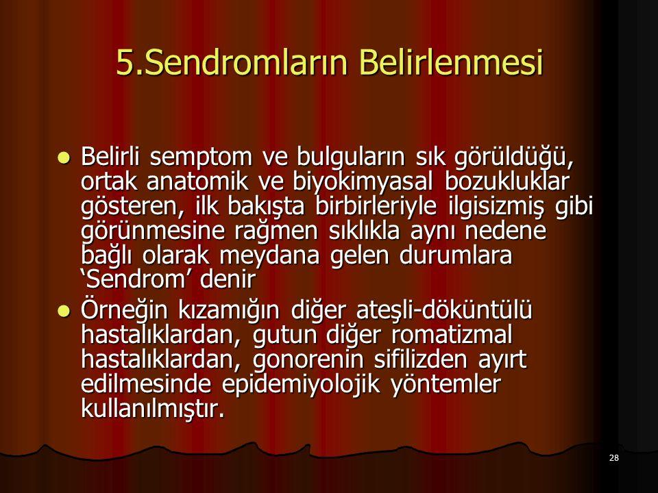 5.Sendromların Belirlenmesi