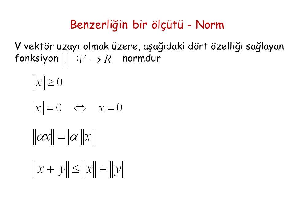 Benzerliğin bir ölçütü - Norm