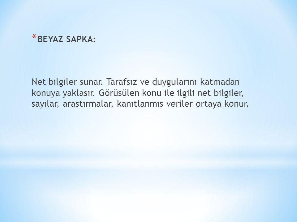 BEYAZ SAPKA: