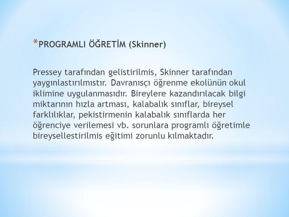 PROGRAMLI ÖĞRETİM (Skinner)