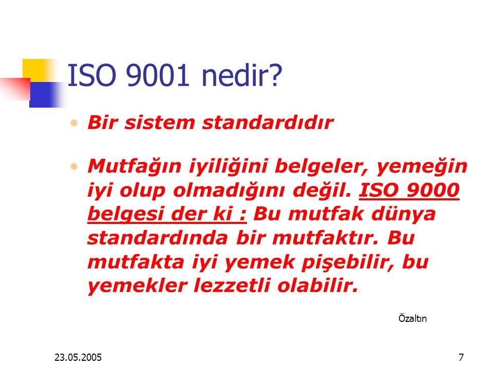 ISO 9001 nedir Bir sistem standardıdır