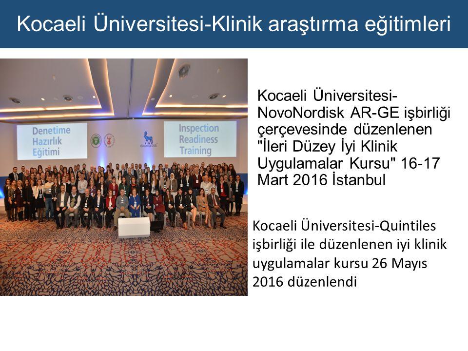Kocaeli Üniversitesi-Klinik araştırma eğitimleri