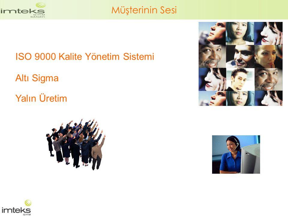 Müşterinin Sesi ISO 9000 Kalite Yönetim Sistemi Altı Sigma Yalın Üretim