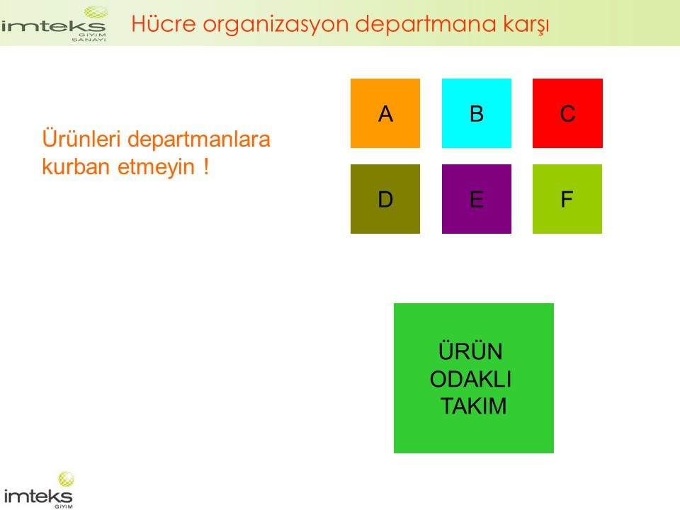 Hücre organizasyon departmana karşı