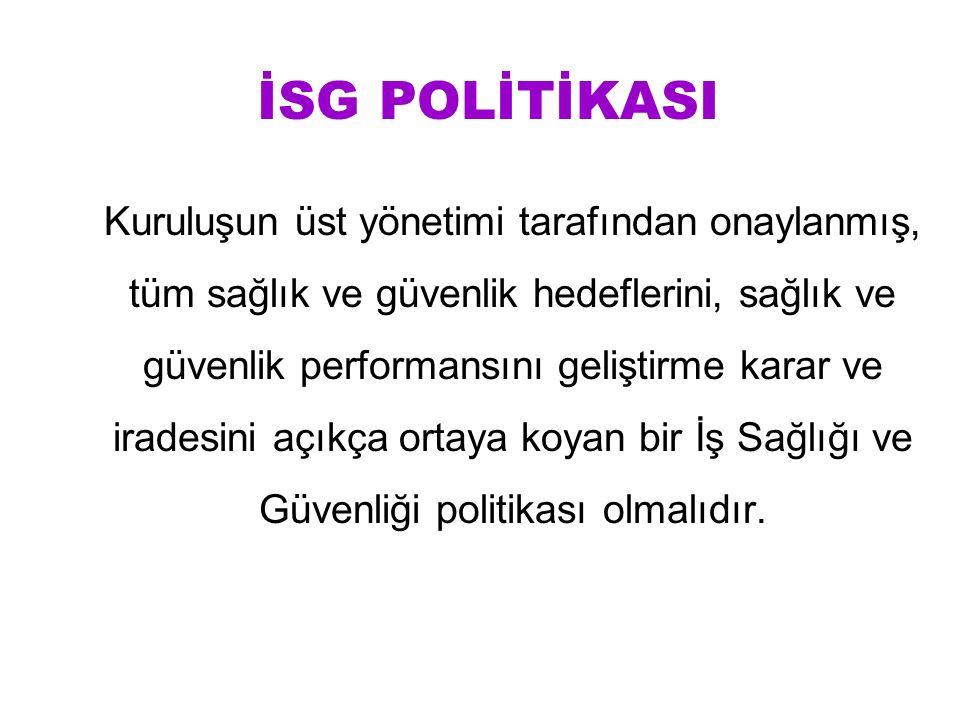 İSG POLİTİKASI