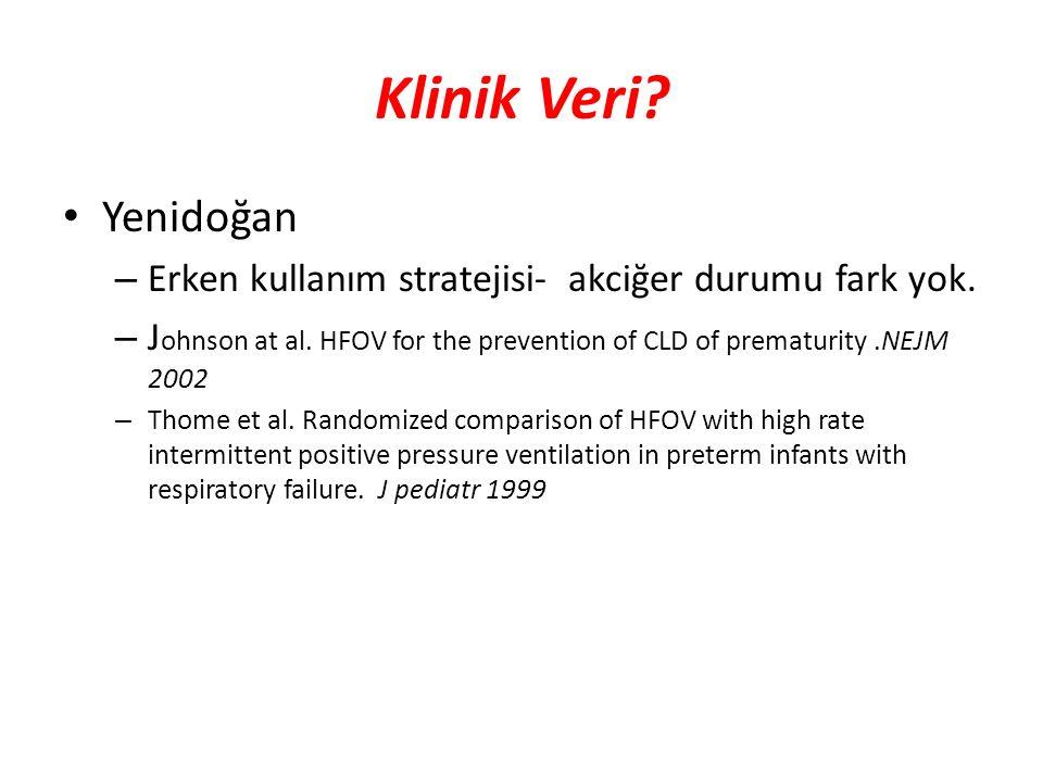 Klinik Veri Yenidoğan. Erken kullanım stratejisi- akciğer durumu fark yok.