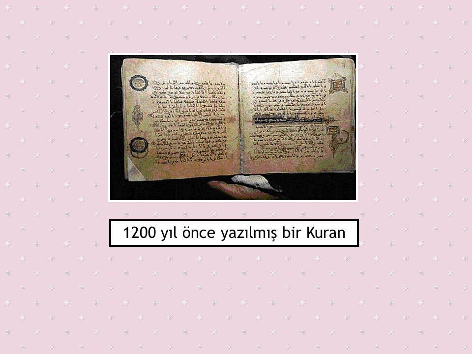 1200 yıl önce yazılmış bir Kuran