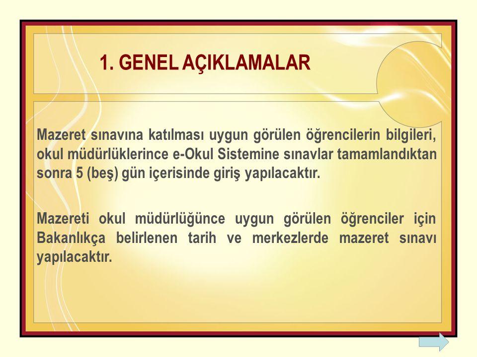 1. GENEL AÇIKLAMALAR