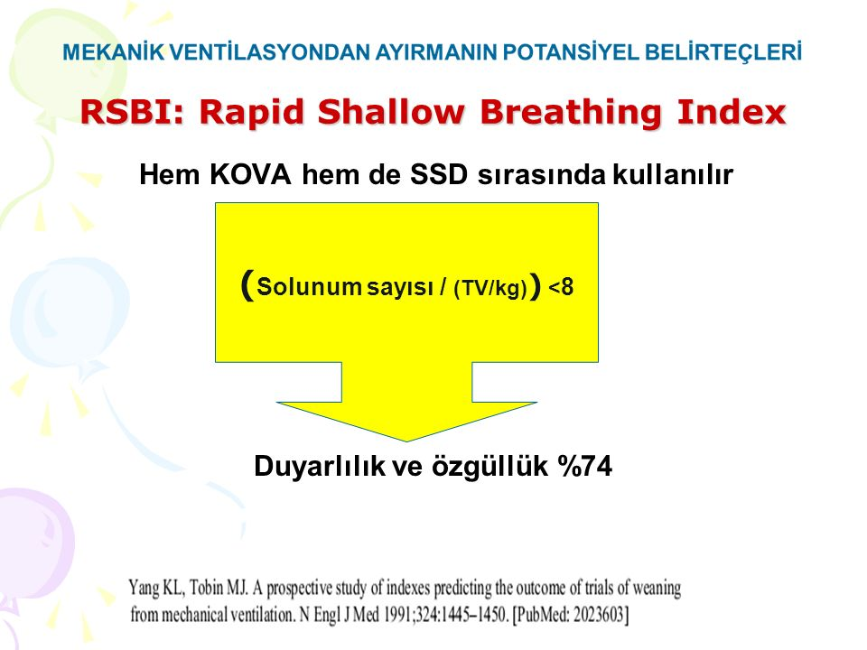 RSBI: Rapid Shallow Breathing Index
