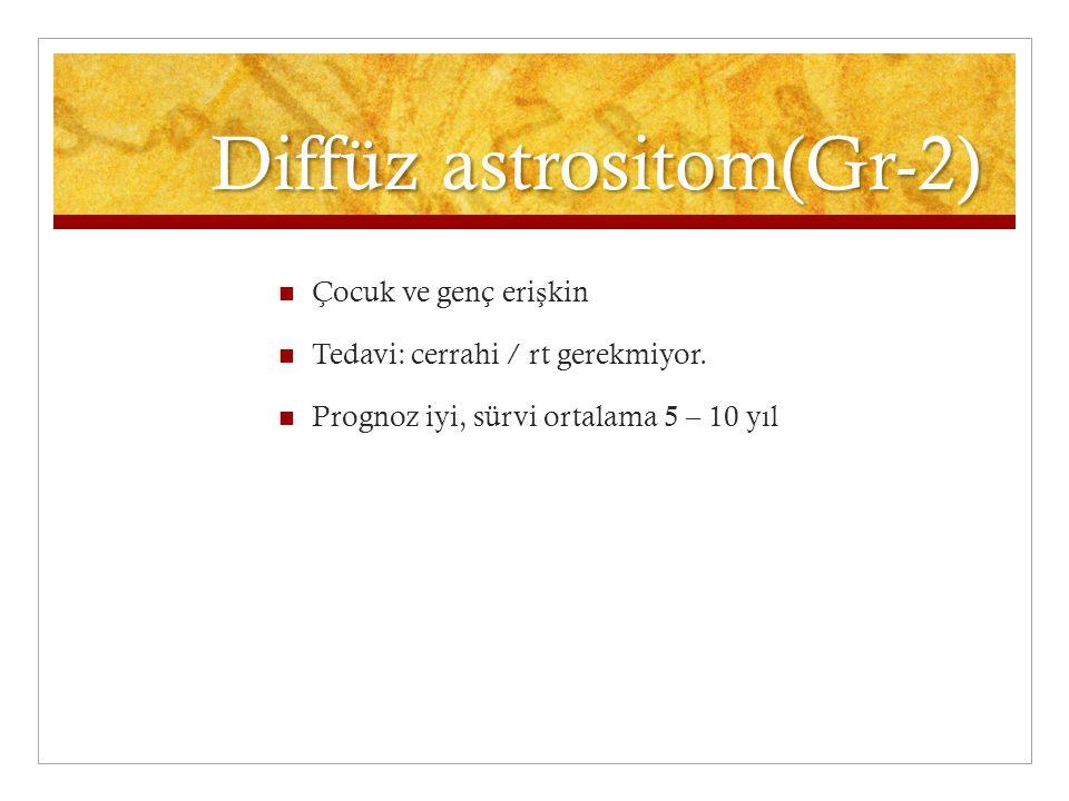 Diffüz astrositom(Gr-2)