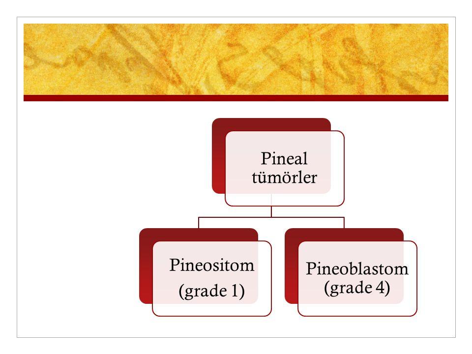 Pineal tümörler (grade 1) Pineositom Pineoblastom (grade 4)