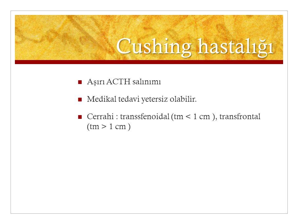 Cushing hastalığı Aşırı ACTH salınımı