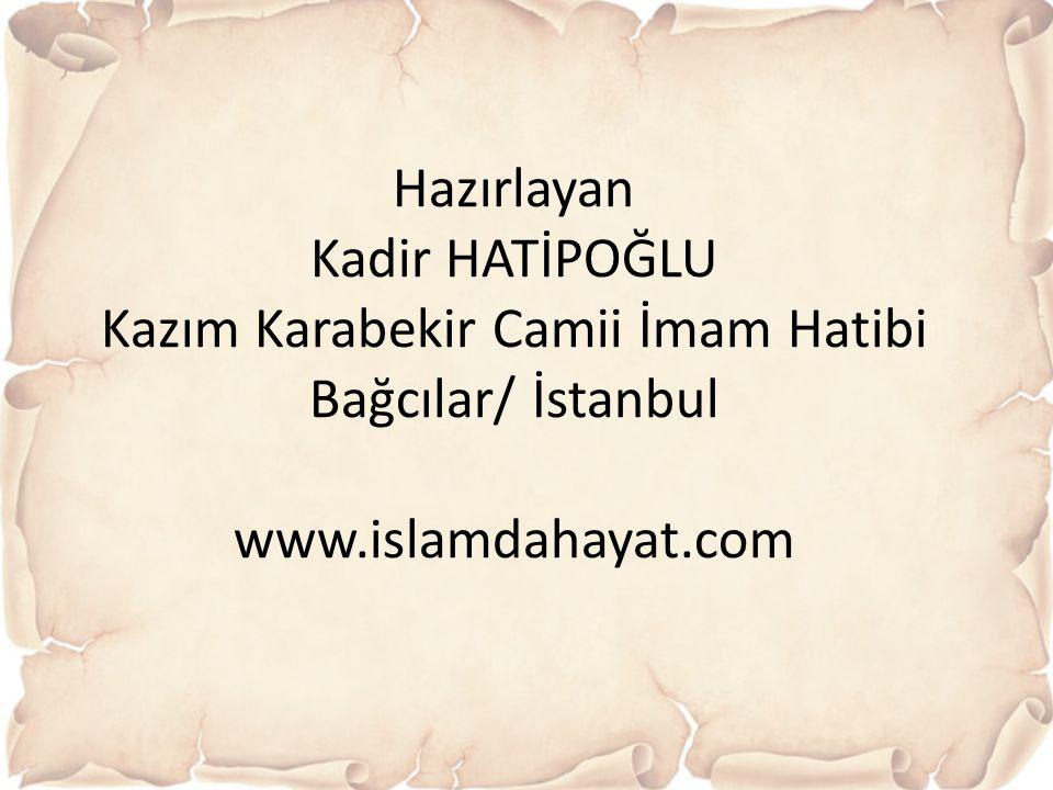 Kazım Karabekir Camii İmam Hatibi Bağcılar/ İstanbul
