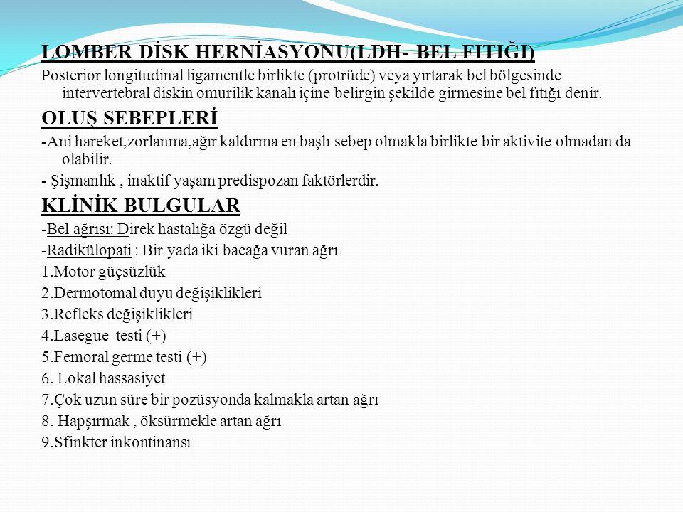 LOMBER DİSK HERNİASYONU(LDH- BEL FITIĞI) OLUŞ SEBEPLERİ