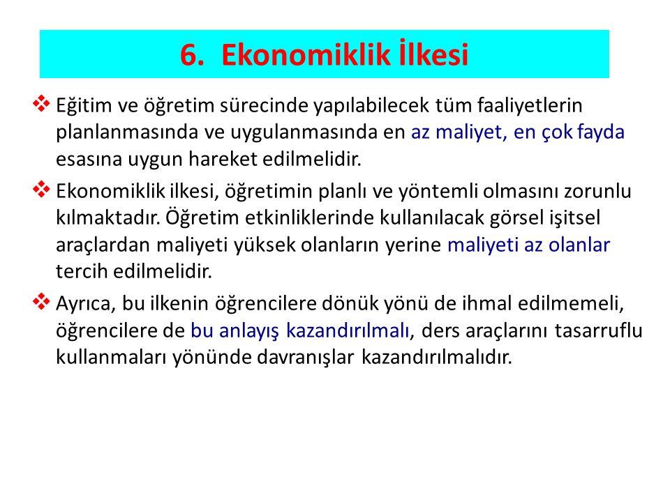 6. Ekonomiklik İlkesi