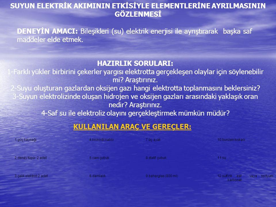 4-Saf su ile elektroliz olayını gerçekleştirmek mümkün müdür
