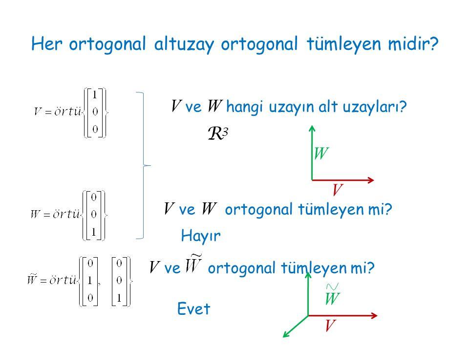 Her ortogonal altuzay ortogonal tümleyen midir
