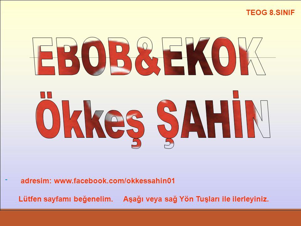 EBOB&EKOK Ökkeş ŞAHİN TEOG 8.SINIF
