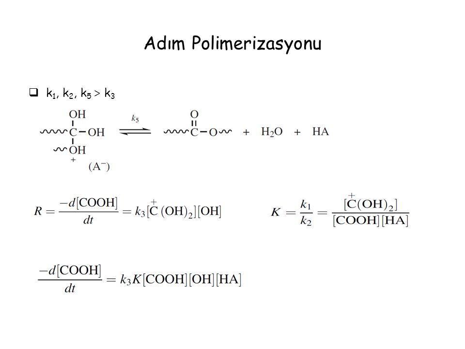 Adım Polimerizasyonu k1, k2, k5 > k3
