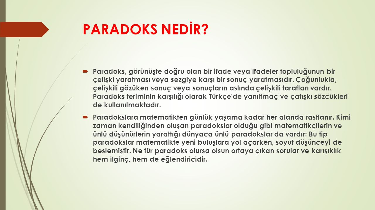 PARADOKS NEDİR