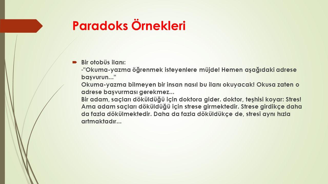 Paradoks Örnekleri