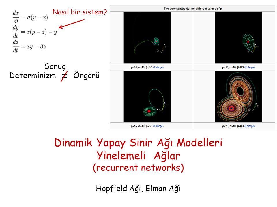 Dinamik Yapay Sinir Ağı Modelleri