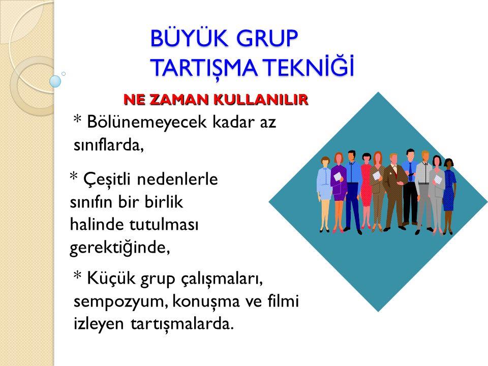 BÜYÜK GRUP TARTIŞMA TEKNİĞİ