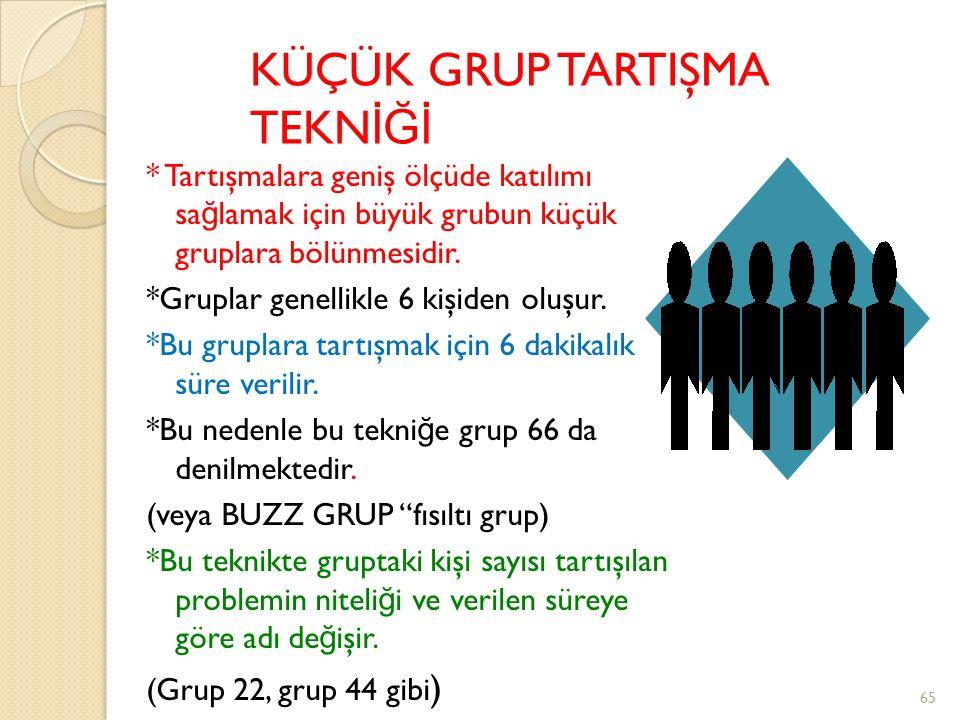 KÜÇÜK GRUP TARTIŞMA TEKNİĞİ