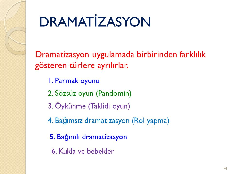 DRAMATİZASYON Dramatizasyon uygulamada birbirinden farklılık
