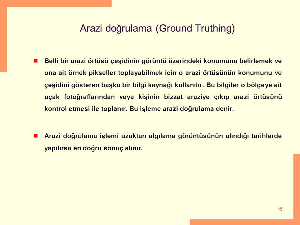 Arazi doğrulama (Ground Truthing)