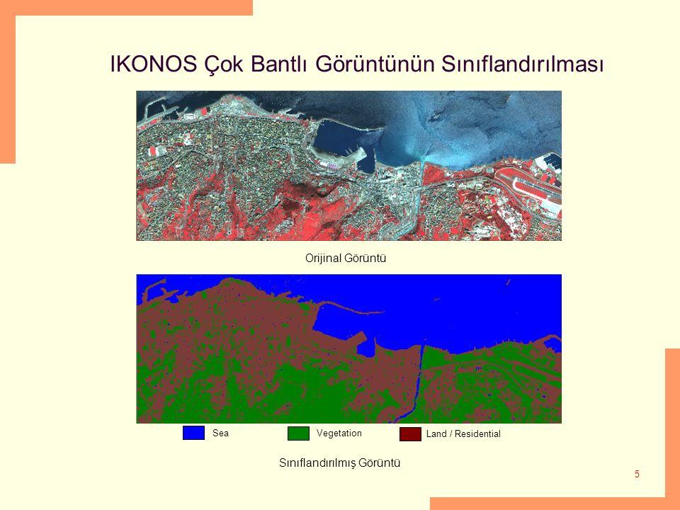 IKONOS Çok Bantlı Görüntünün Sınıflandırılması