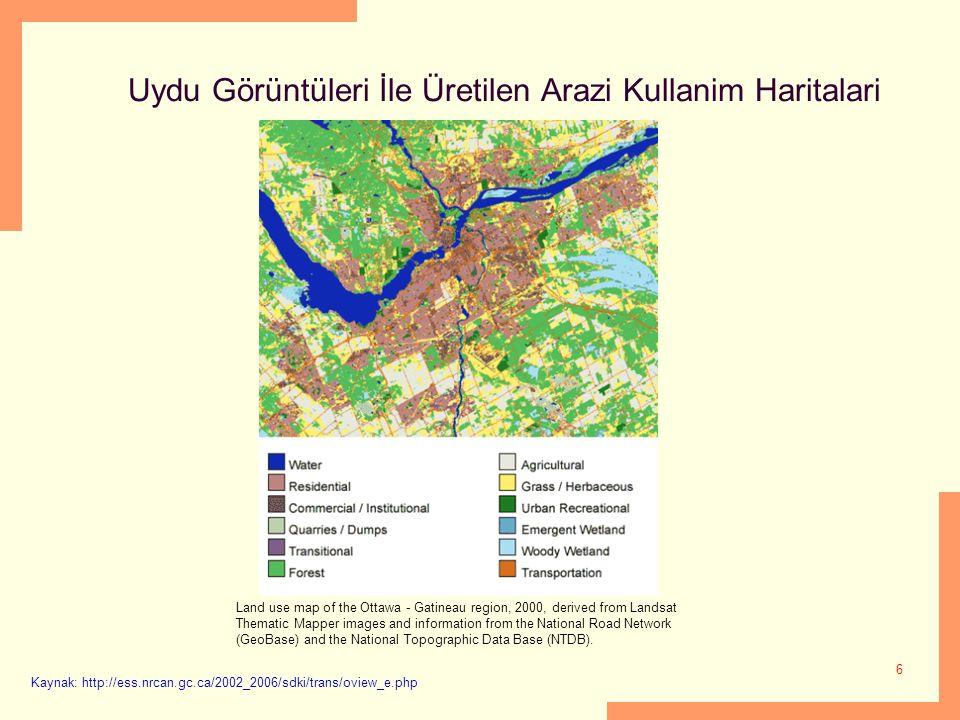 Uydu Görüntüleri İle Üretilen Arazi Kullanim Haritalari