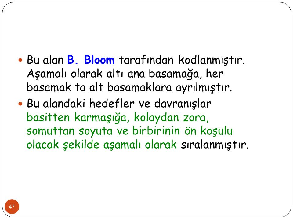 Bu alan B. Bloom tarafından kodlanmıştır