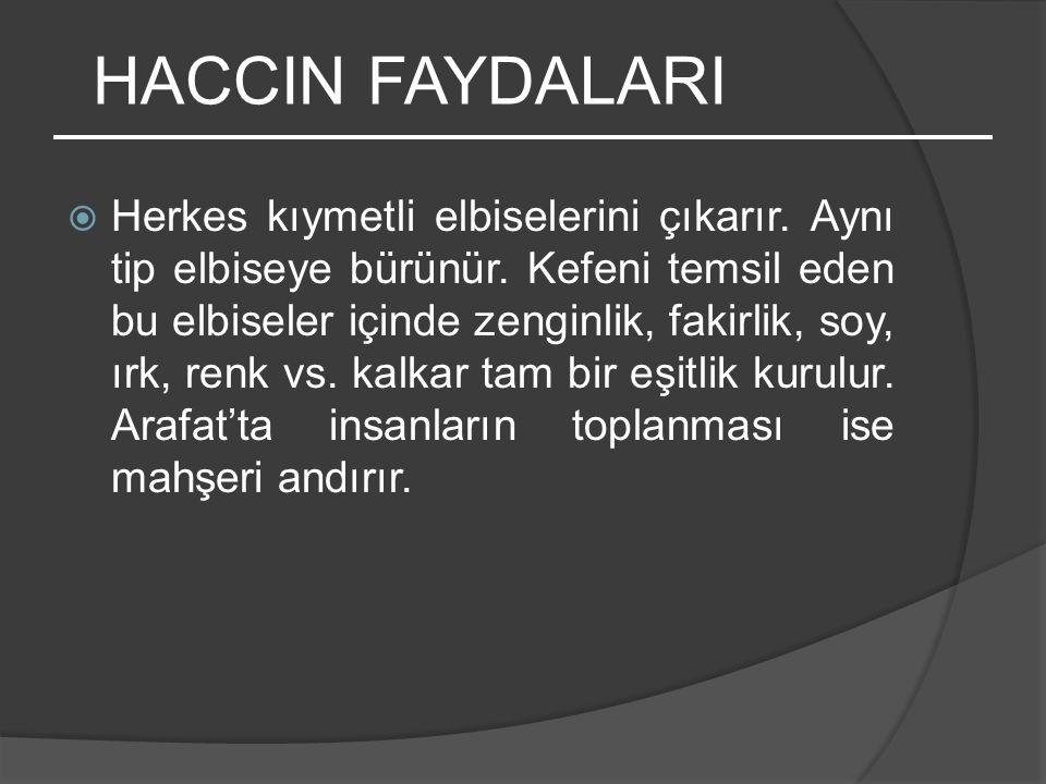 HACCIN FAYDALARI