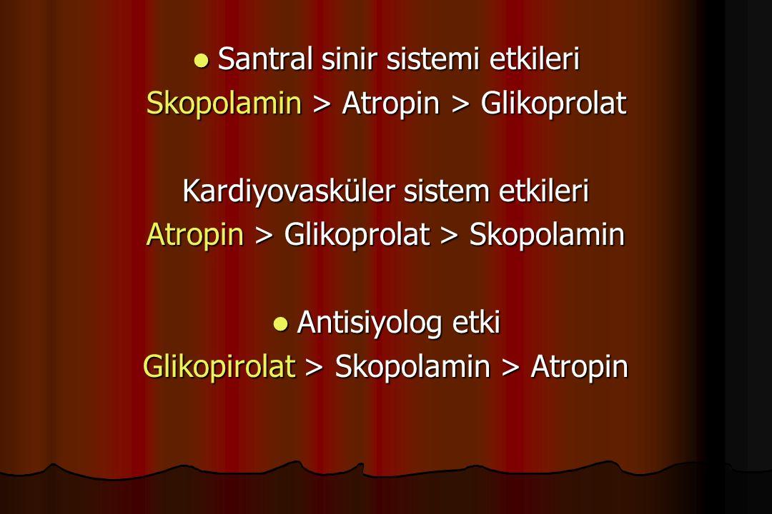 Santral sinir sistemi etkileri