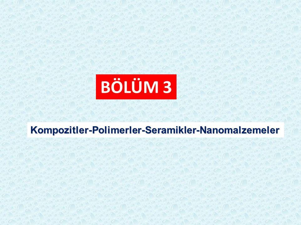 BÖLÜM 3 Kompozitler-Polimerler-Seramikler-Nanomalzemeler