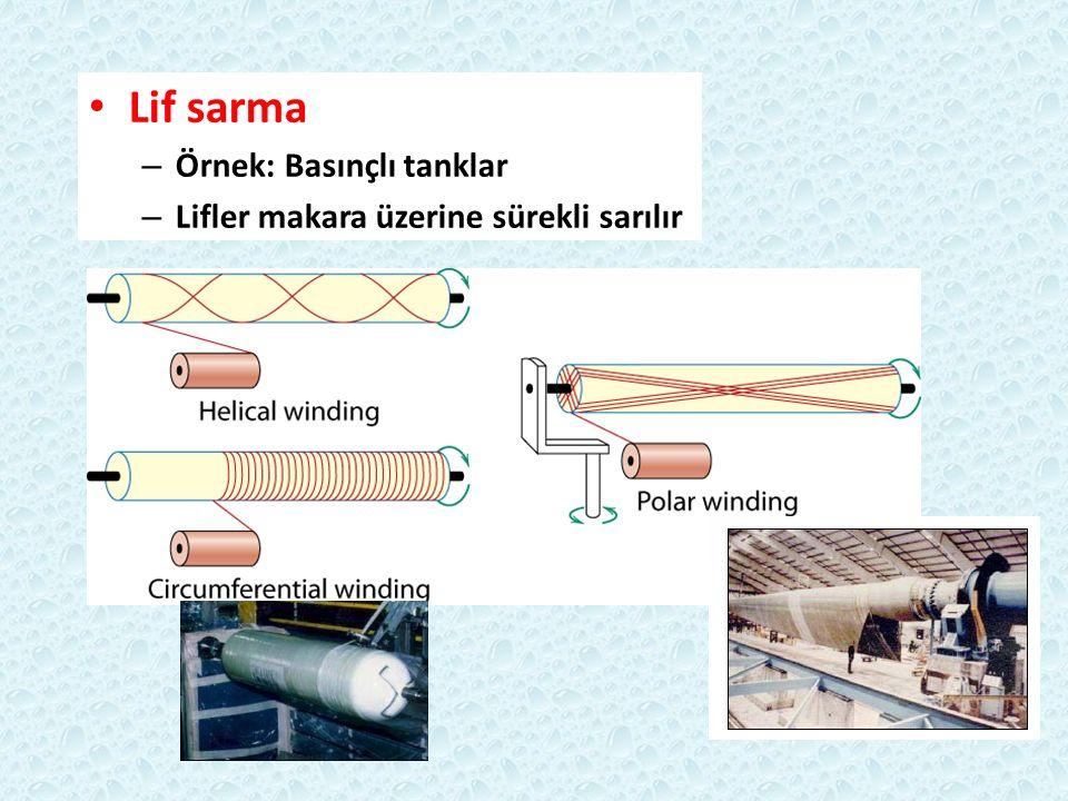 Lif sarma Örnek: Basınçlı tanklar