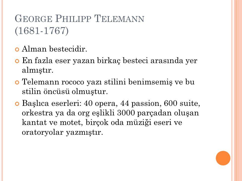 George Philipp Telemann (1681-1767)