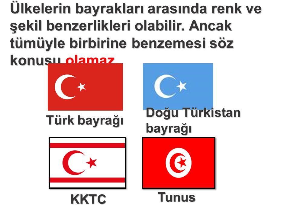 Ülkelerin bayrakları arasında renk ve şekil benzerlikleri olabilir