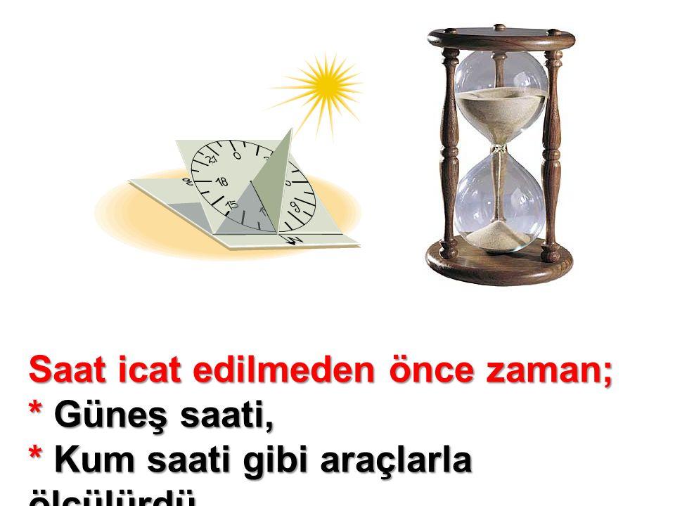 Saat icat edilmeden önce zaman;